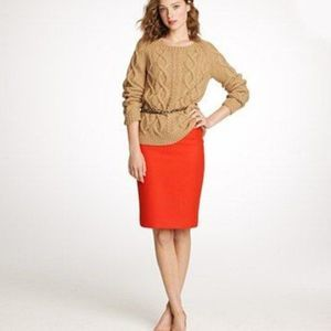 J. Crew Factory The Pencil Skirt Orange Cotton 00